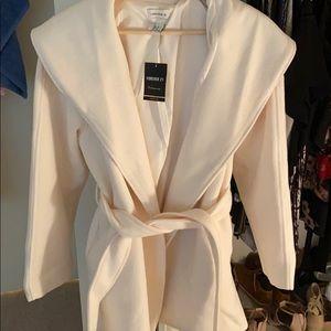 Cream wrap coat